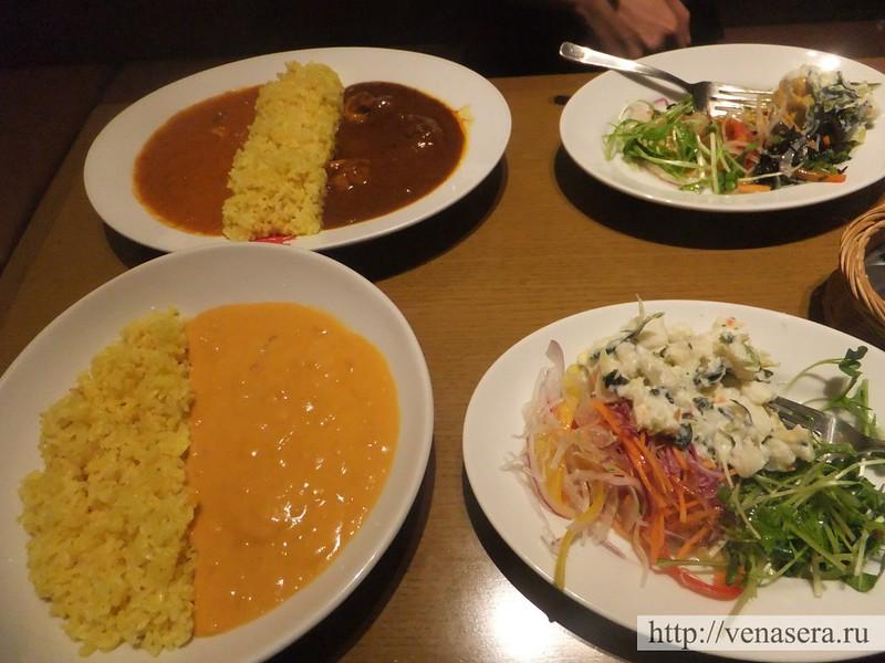 Еда в ресторане Татикава