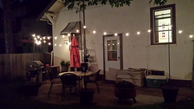 New patio lights
