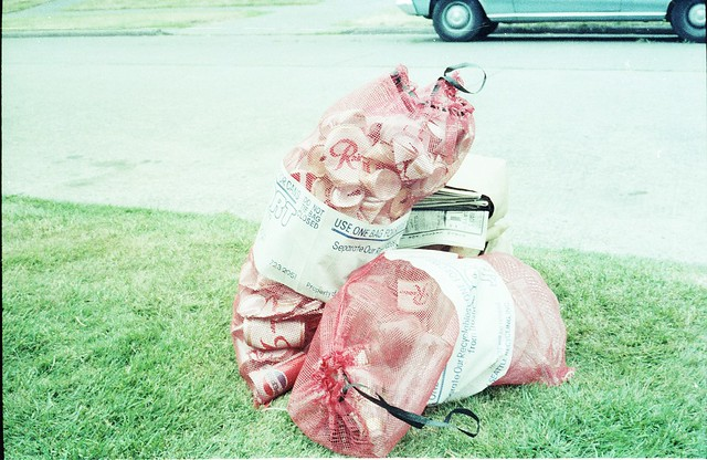 Recycling program collection bags - Seattle Municipal Archives.