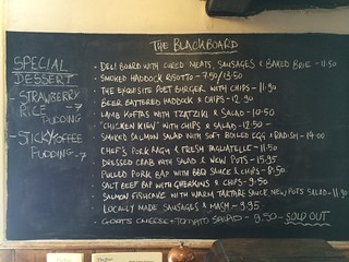 Blackboard at the Poet,  Matfield