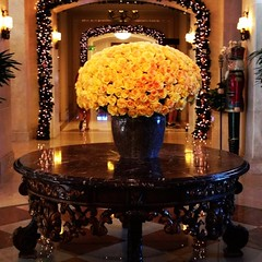The gorgeous #roses in the lobby of the #Ritz-Carlton #KeyBiscayne greeted us on our wedding day check out the new post on the blog for ideas on how to choose a #weddingvenue #newblogpost #homesweetsunshine