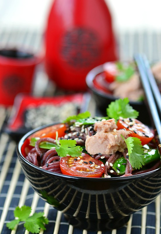 salad from rice noodles with a tuna.3