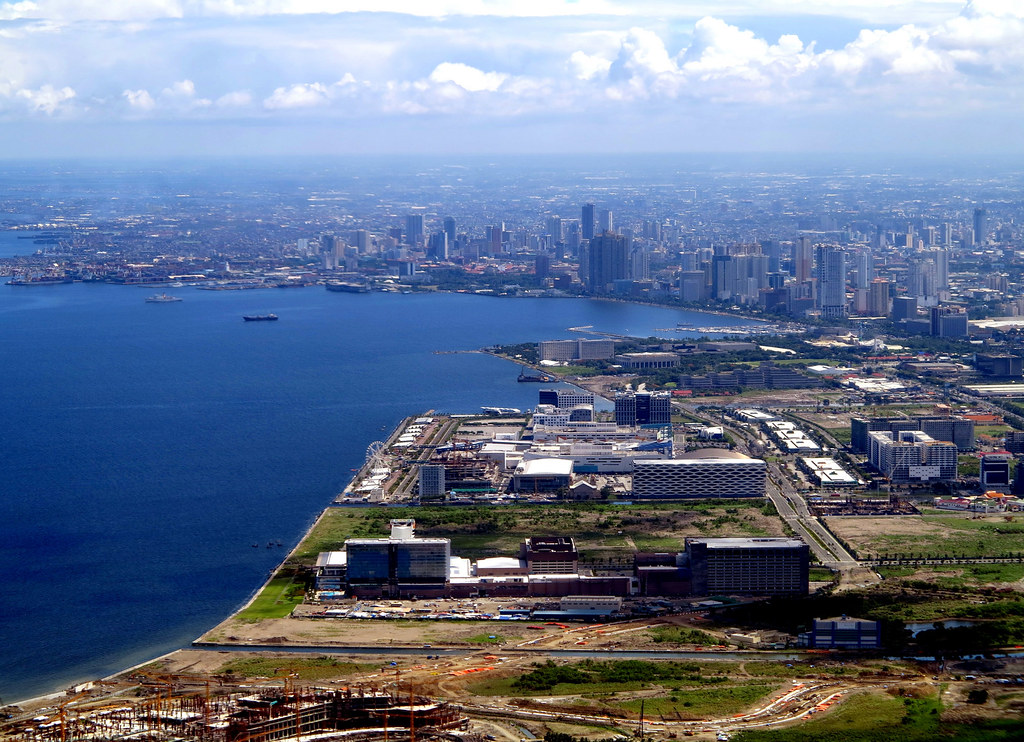 Aerial View of Manila Bay and the Reclaimed Area