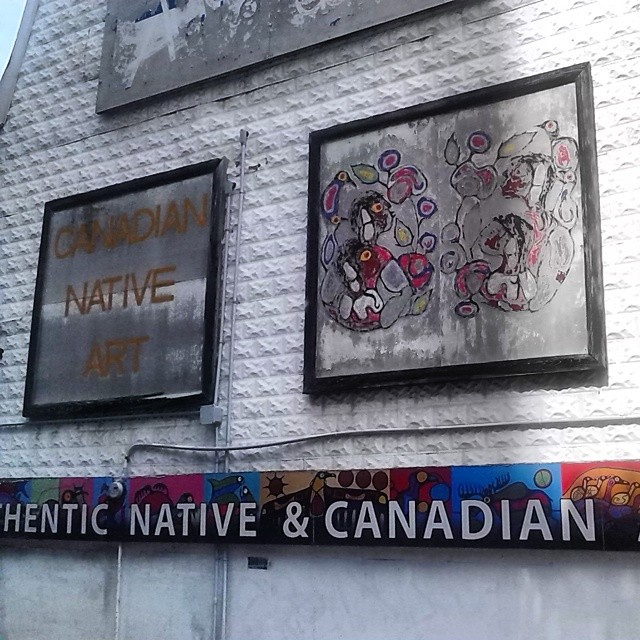 Authentic Canadian Native Art #toronto #alleys