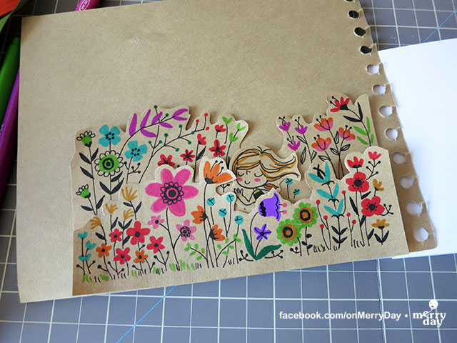 Flower Garden Drawing have a merry day: art swap : merry girl in the flower garden