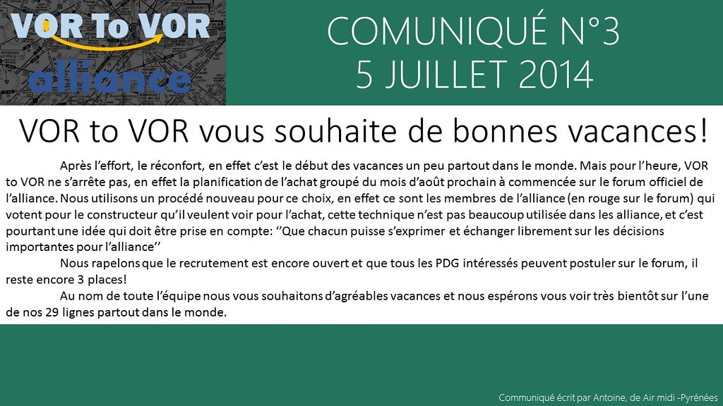 communiqué n°3 - 5 juillet 2014 14578323225_8f77f8a71b_b