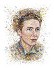 Simone De Beauvoir: The butterfly (for Womankind magazine Australia)