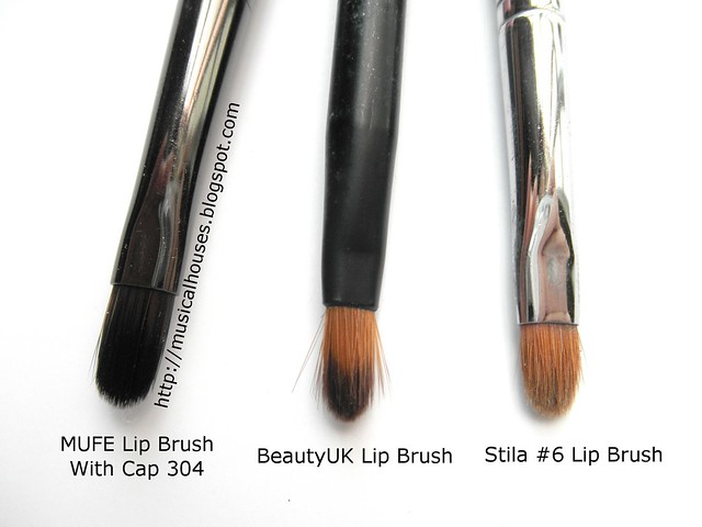 MUFE BeautyUK Stila Lip Brush Comparison