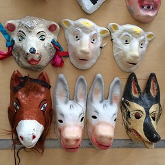 Just part of #JoanJonas's mask collection #art21season7 #tbt
