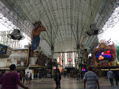Fremont Street with Vegas Vic