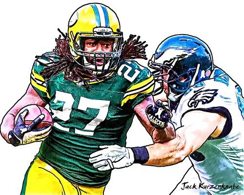 Green Bay Packers Eddie Lacy - Philadelphia Eagles Connor Barwin