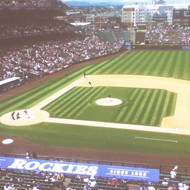 #coloradorockies #baseball #denver #daytrip #coorsfield #heaven