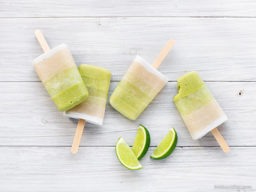 Ombre Key Lime Popsicles