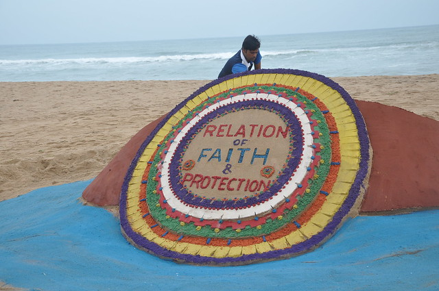 Sand Art On the eve of Raksha Bandhan by sand artist Sri Manas Kumar Sahoo