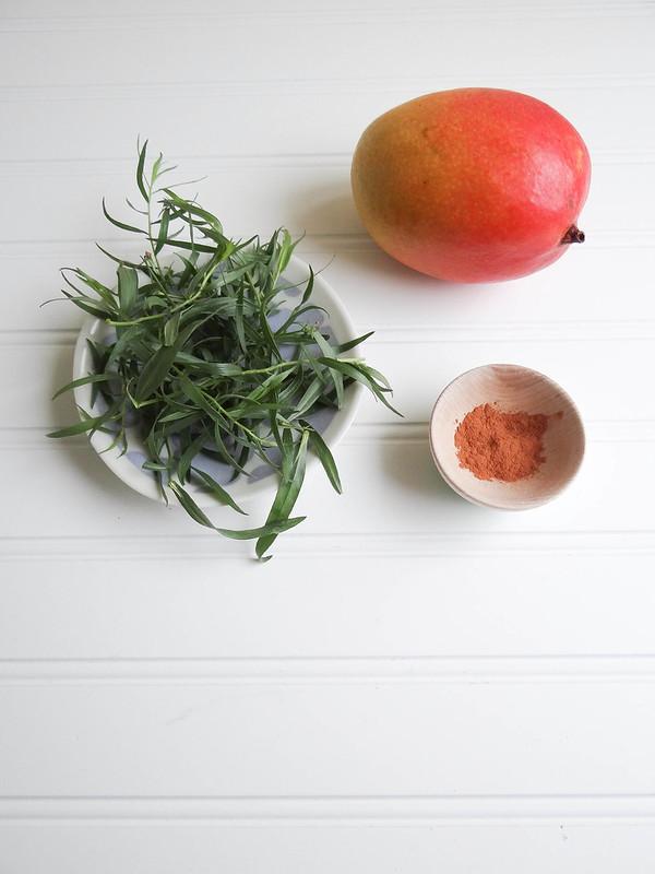 mango tarragon frappe