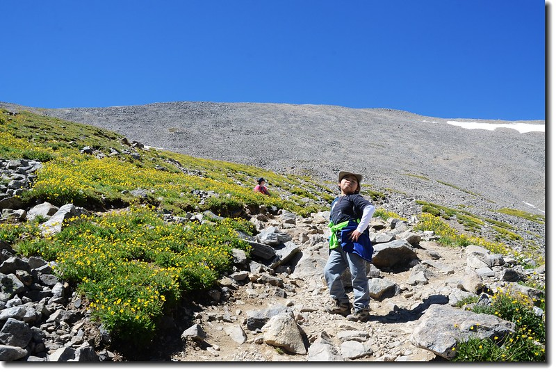 Jacob is on his way to Grays Peak 7