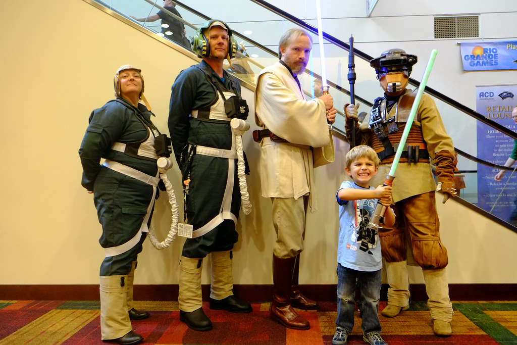 Oliver with his Star Wars people