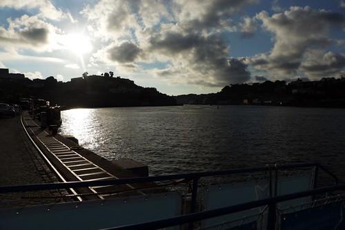 Vista del fiume dal lungofiume di Gaia
