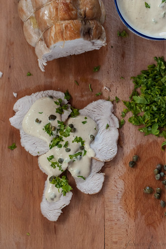 Tacchino tonnato - Turkey breast with tuna mayonnaise
