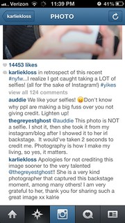 Karlie instagram apology