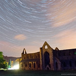 Startrails above Tintern Abbey