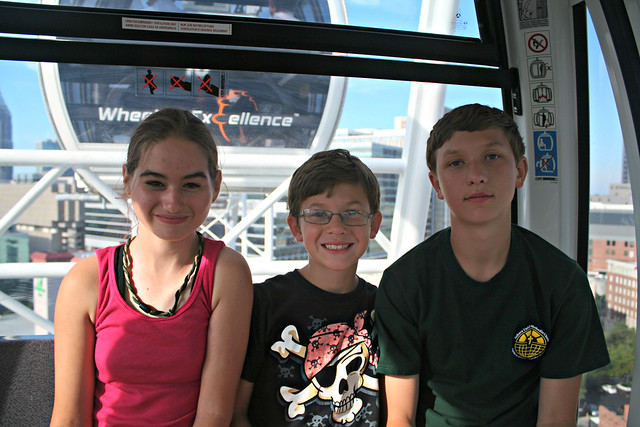 My kids with Rachel on Skyview Atlanta