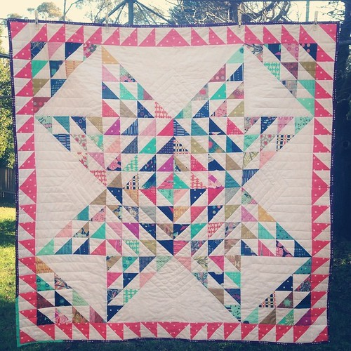 I kinda love the quilting on this one. #shatteredstar