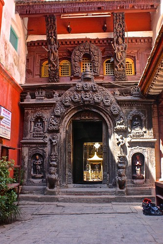 entrance to Patan's Golden Temple