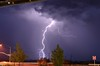 A lighting strike bursts through the air, striking the ground in Wickenburg, Arizona four times! This was a magnificent storm which provided a lot of rain, lightning and wind. Along with all of the that, this storm brought temperatures in the 70 degree range. Definitely a storm to remember!