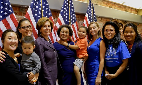 Congresswoman Pelosi celebrates Women's Equality Day at the Women's Building in the Mission