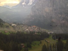 Mürren from the Schilthorn Cable Car