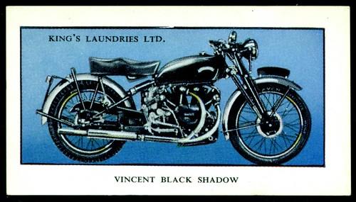 British Tradecard - Vincent Black Shadow Motorcycle, 1953
