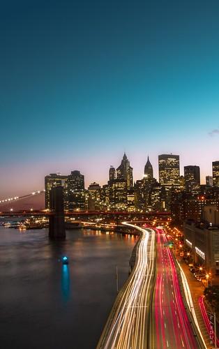 nyc newyorkcity longexposure usa newyork architecture night nightshot manhattan brooklynbridge manhattanbridge hudsonriver nuit gothamcity pentax1224mm pentaxart pentaxk3