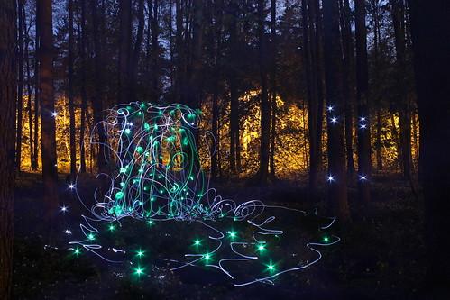 longexposure lightpainting art modern night forest finland spring helsinki woods contemporaryart contemporary photoart lightart lightdrawing laajasalo laurilaurén