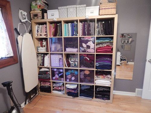 Sewing Room fabric storage