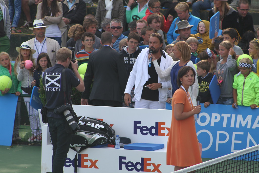 Henri Leconte, Sabine Appelmans and Dominique Monami