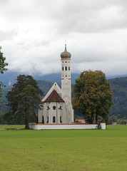 Baroque Church of Saint-Coloman. Schwangau