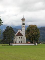 Baroque Church of Saint-Coloman. Schwangau