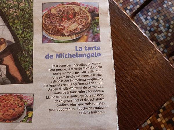 TARTE MICHELANGELO