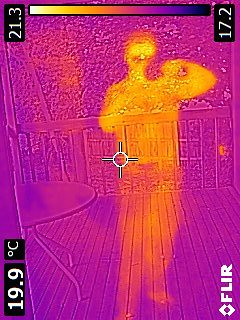 My IR Reflection In Patio Door