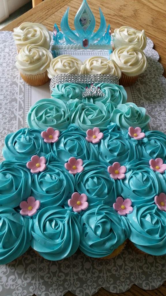Frozen Cupcake Dress Cake By Cathy Santa Cruz CA Birthdaycakes4free