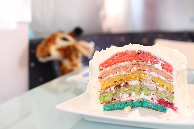 虹色パンケーキ