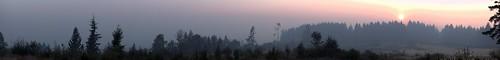 36 Pit Fire Burning Near Estacada, Oregon, Viewed from Beavercreek, Oregon