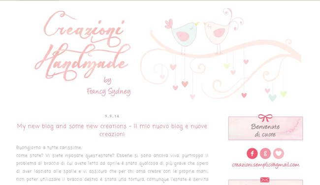 creazioni-handmade, blog design by alex b.