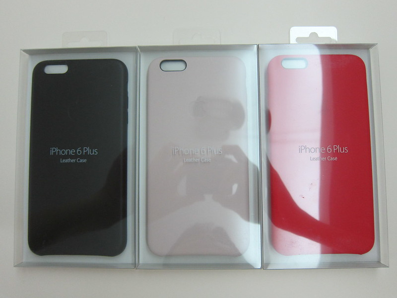 Apple iPhone 6 Plus Leather Case - Black, Soft Pink & Red