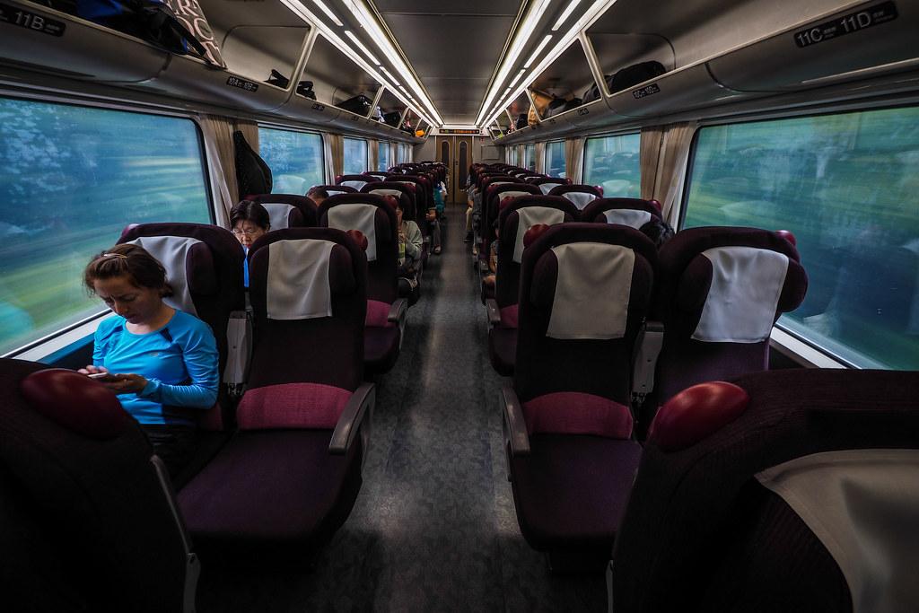 The Ozora Express train from Sapporo to Kushiro, Japan