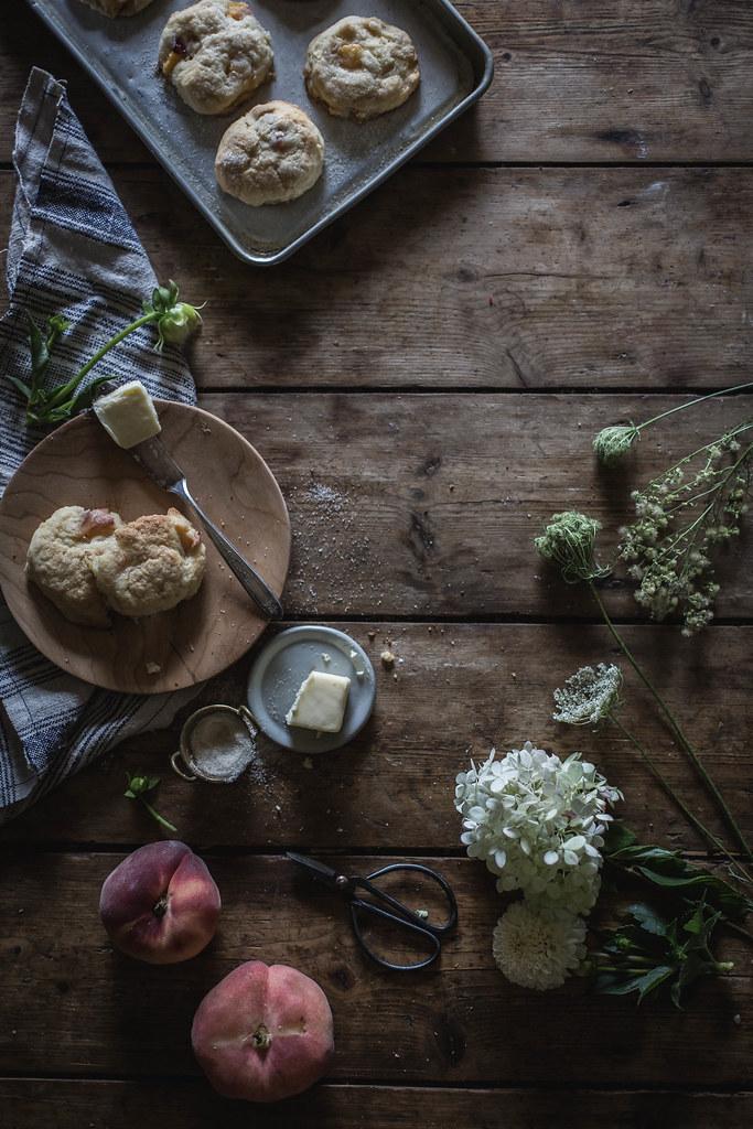 peach & cardamom scones