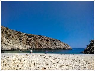 Image de Diktina Beach. panorama beach sunshine boats coast sand kreta august boote crete mittelmeer mediterreneansea kreat küste