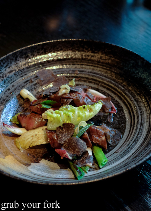 Wagyu oyster blade steak with black truffle at Sokyo at The Star, Pyrmont