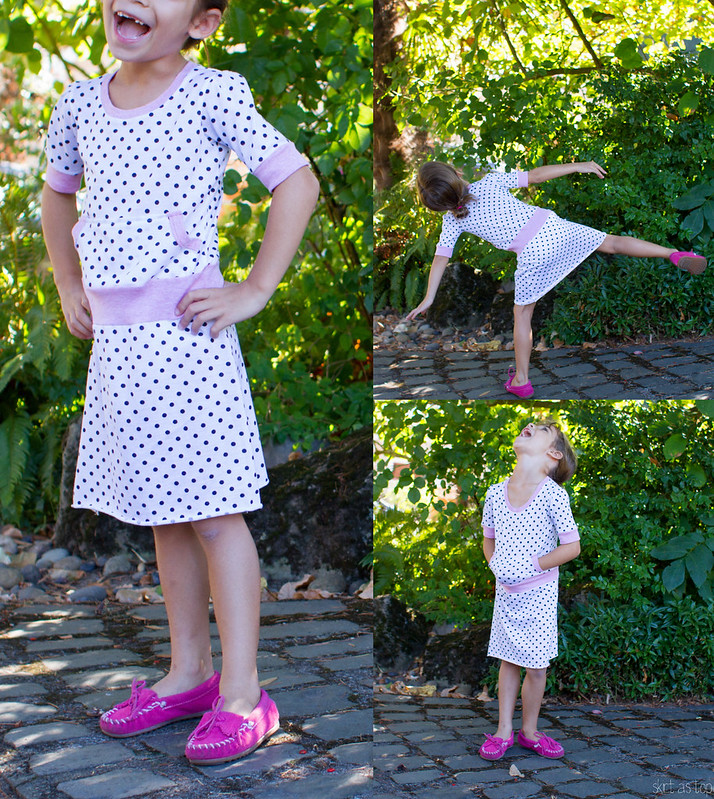 polkadot and pink joey dress
